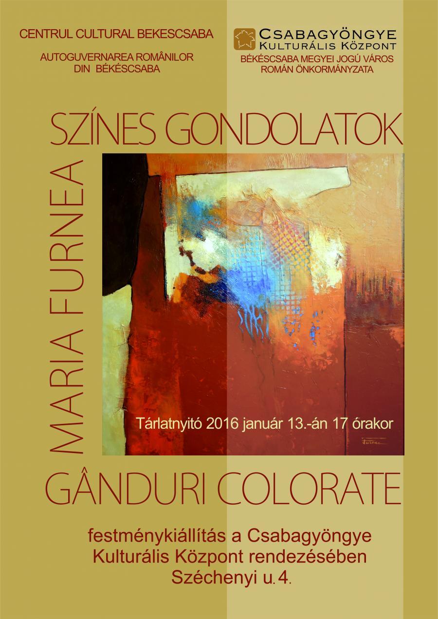"Poza ""Ganduri colorate""-expozitie personala Maria Furnea in Ungaria 1"
