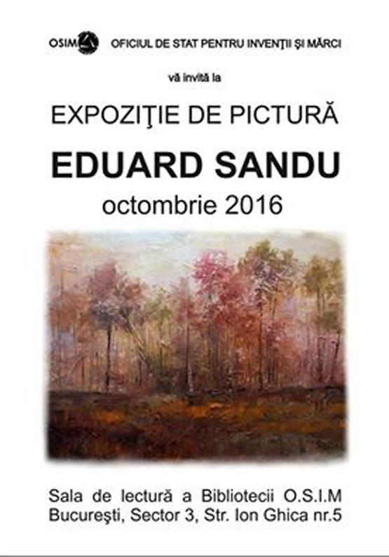 Poza Eduard Sandu Expozitie 1