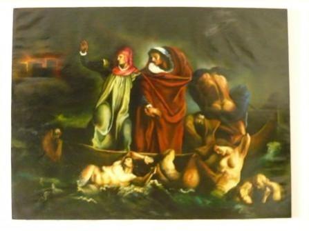 alte Picturi Dante si vergiliu in infern