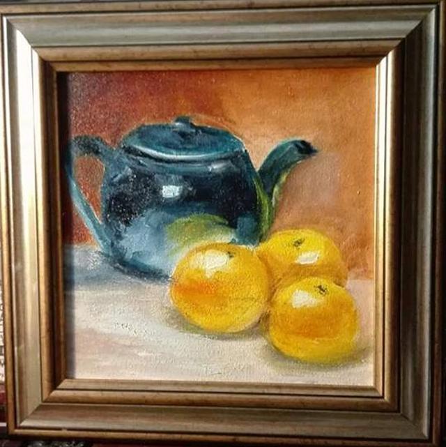 alte Picturi 3 portocale si ceainic