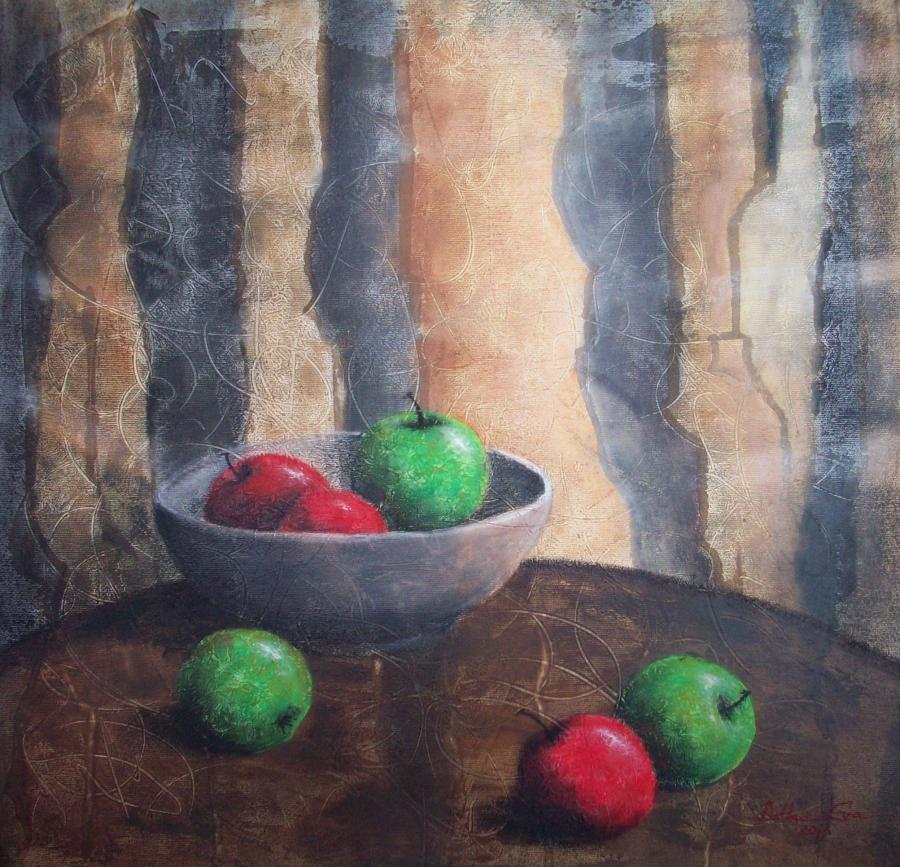 alte Picturi Mere rosii si verzi