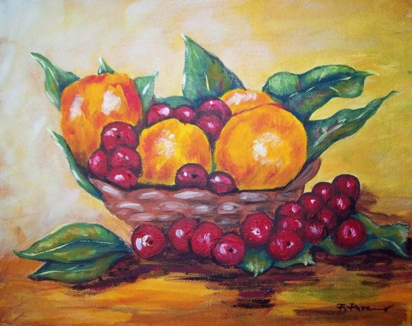 alte Picturi Cos cu fructe2