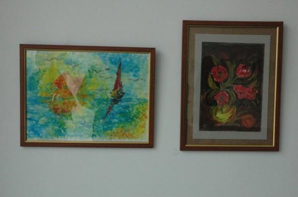 alte Picturi Marina si lalele rosii