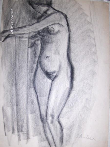 Picturi in creion / carbune Nud 2