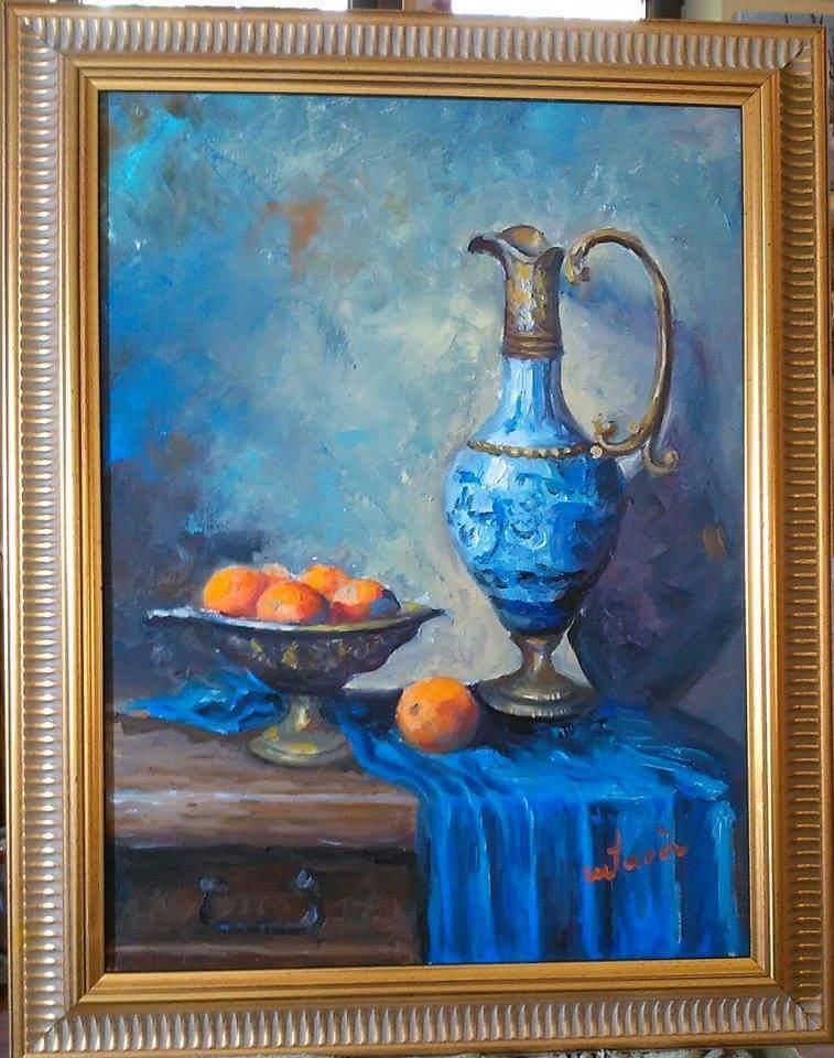 alte Picturi Carafa albastră