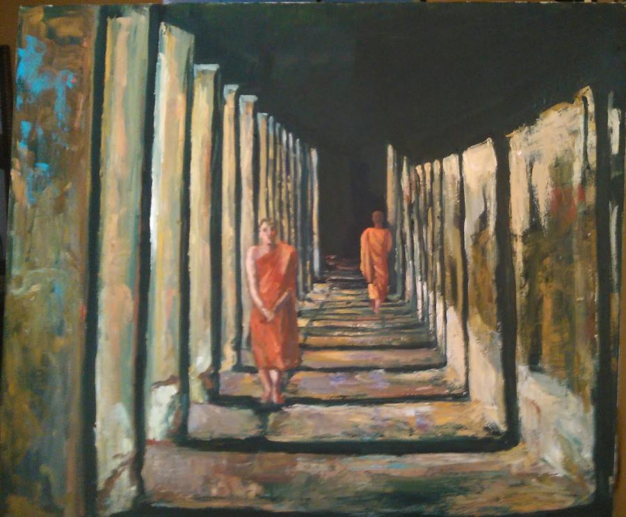 alte Picturi Lumini și umbre în templu