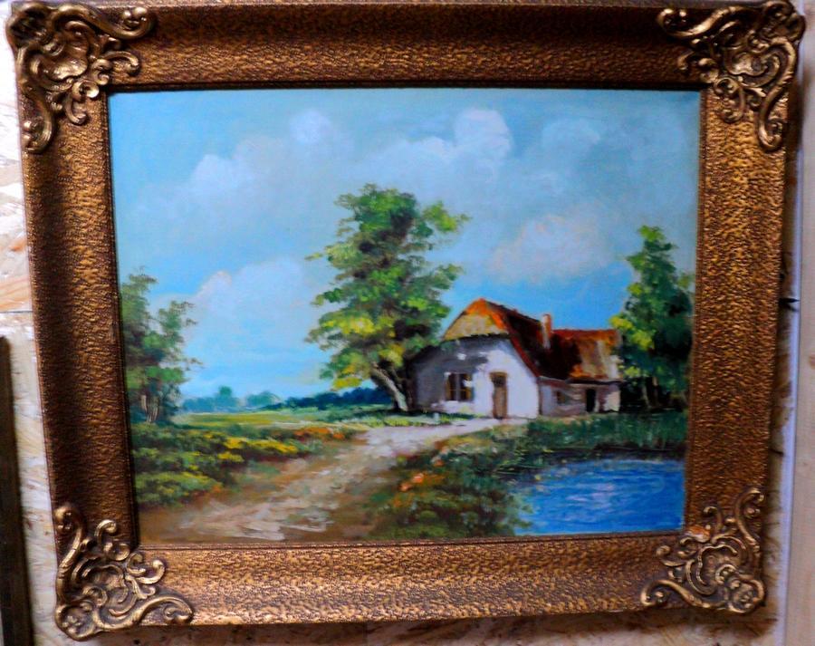 alte Picturi Peisaj cu casa