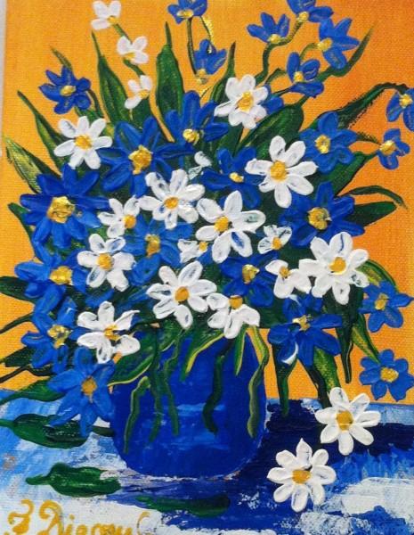 alte Picturi Albastrele si margarete