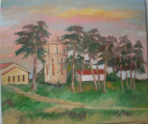 alte Picturi Pini si castelul de apa