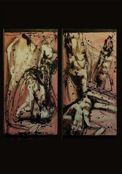 alte Picturi Diptic nuduri