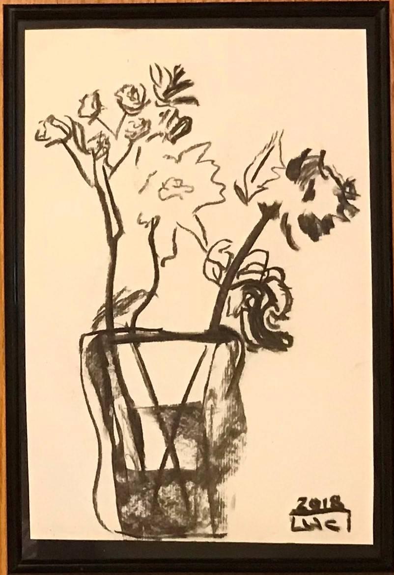 Inspirație tablou Flori in lumină cald