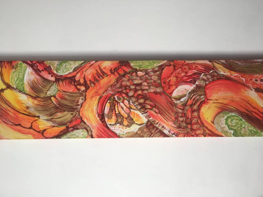 pictura acrilic pe panza cu sasiu de lem