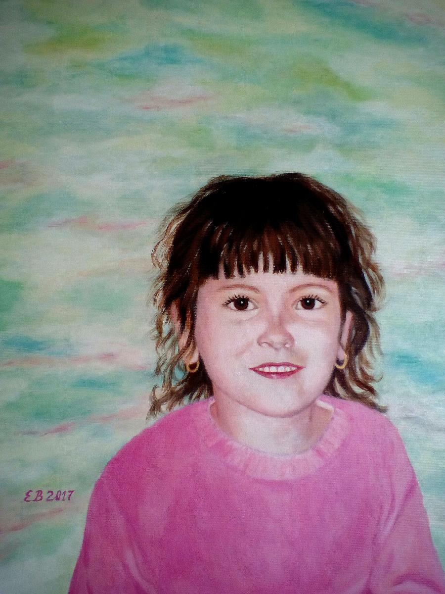 Pictura portret copii.Candoare..