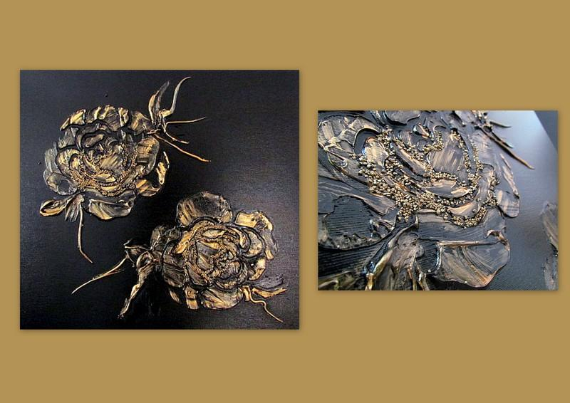 Picturi abstracte/ moderne GOLDEN ROSES