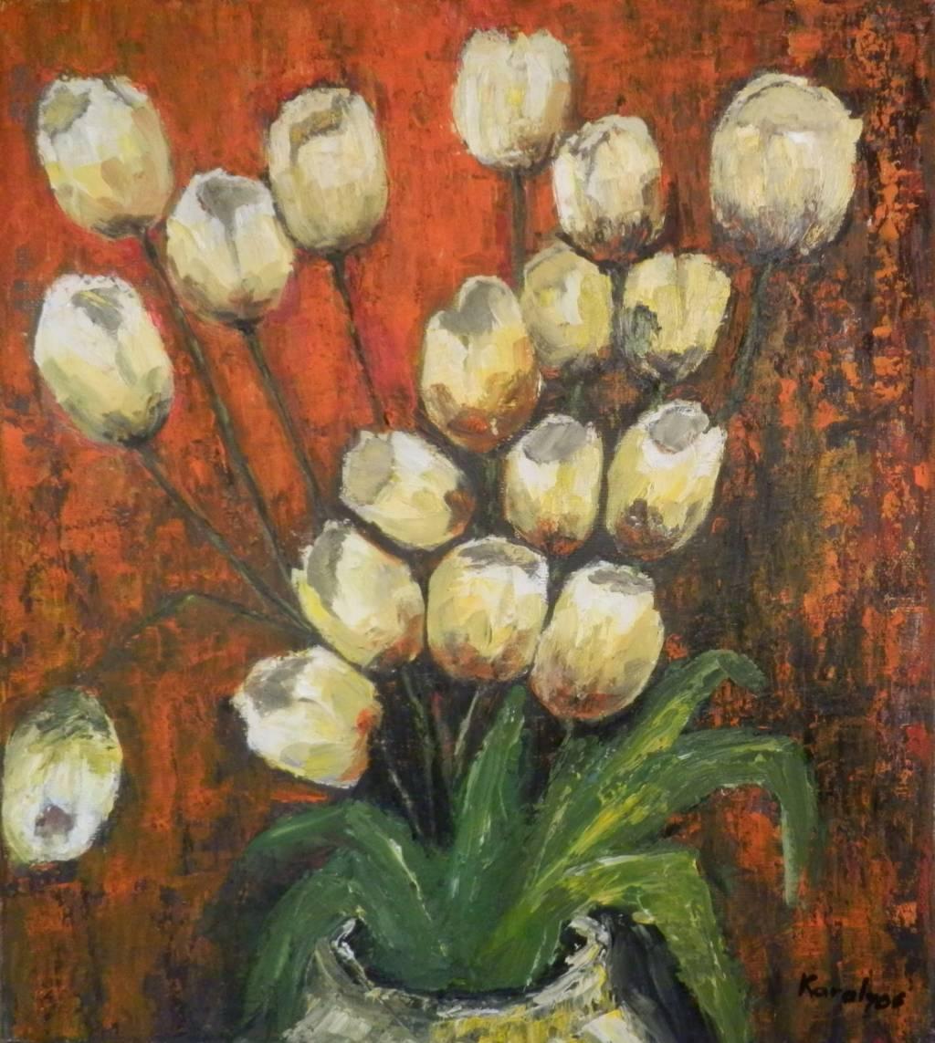 Picturi cu flori Buchet de lalele