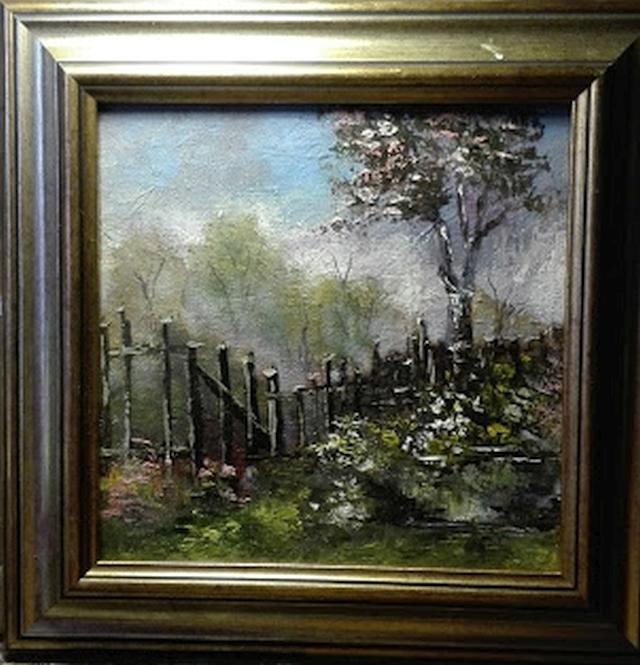 Picturi cu flori Copac inflorit langa ga