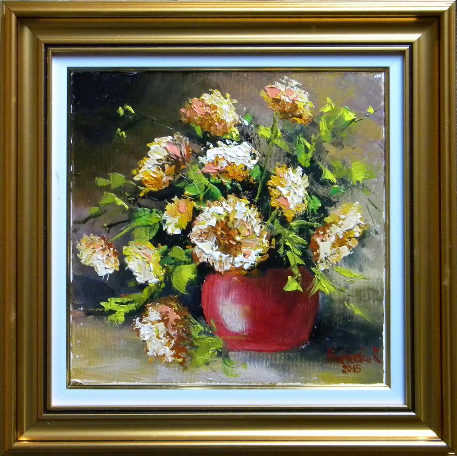 Picturi cu flori GHIVECI CU FLORI DE TOA