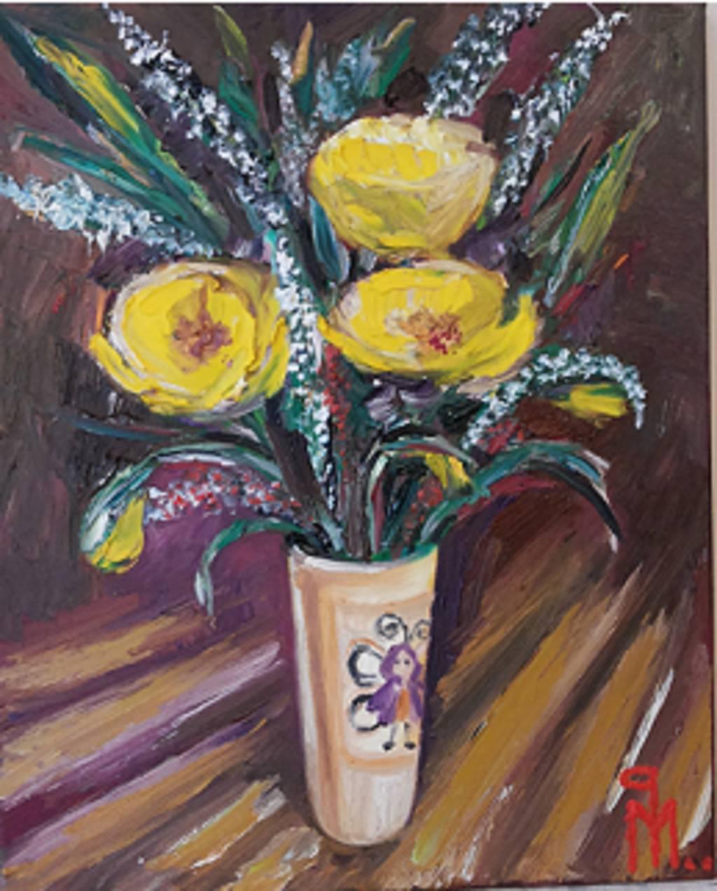Picturi cu flori maci galbeni 2
