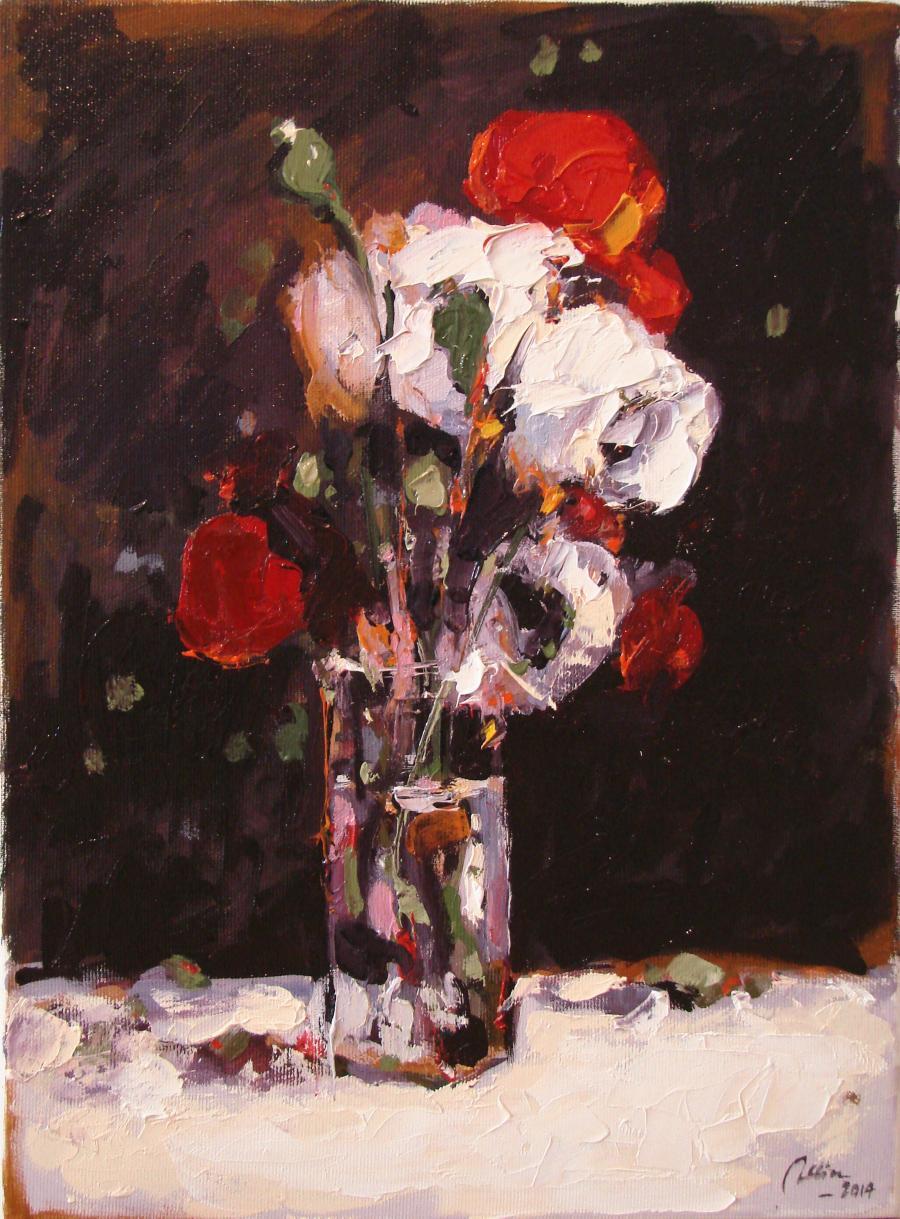 Picturi cu flori natura statica cu maci