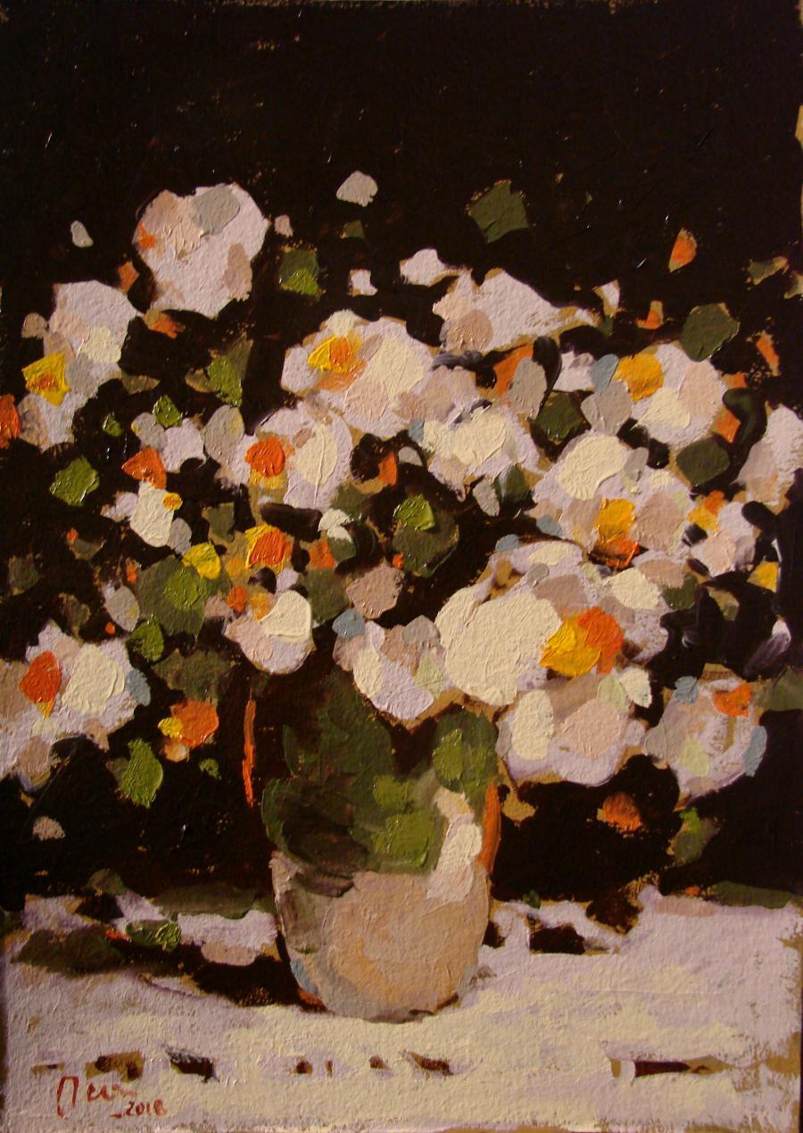 Picturi cu flori Natura statica cu sterg