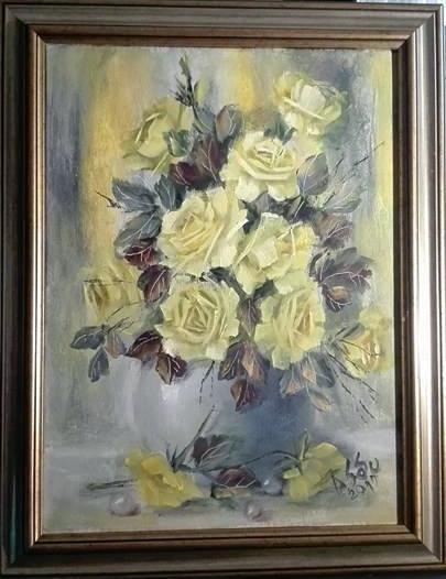 Picturi cu flori Perle si trandafiri gal