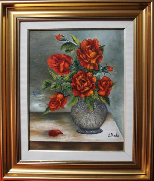 Picturi cu flori Tablou cu rama trandafi