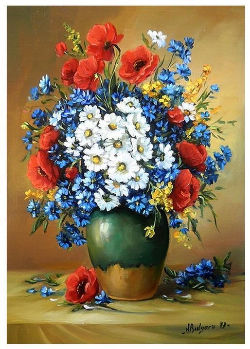 Picturi cu flori UN BUCHET CU FLORI DE C