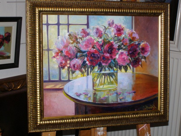 Picturi cu flori Vas din sticla cu flori