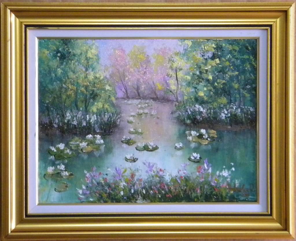 Picturi cu peisaje Canal cu nuferi