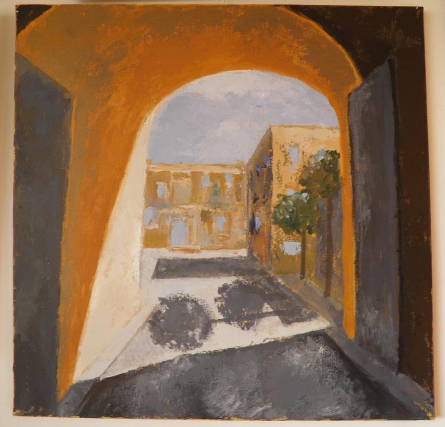Picturi cu peisaje Curtea interioara in