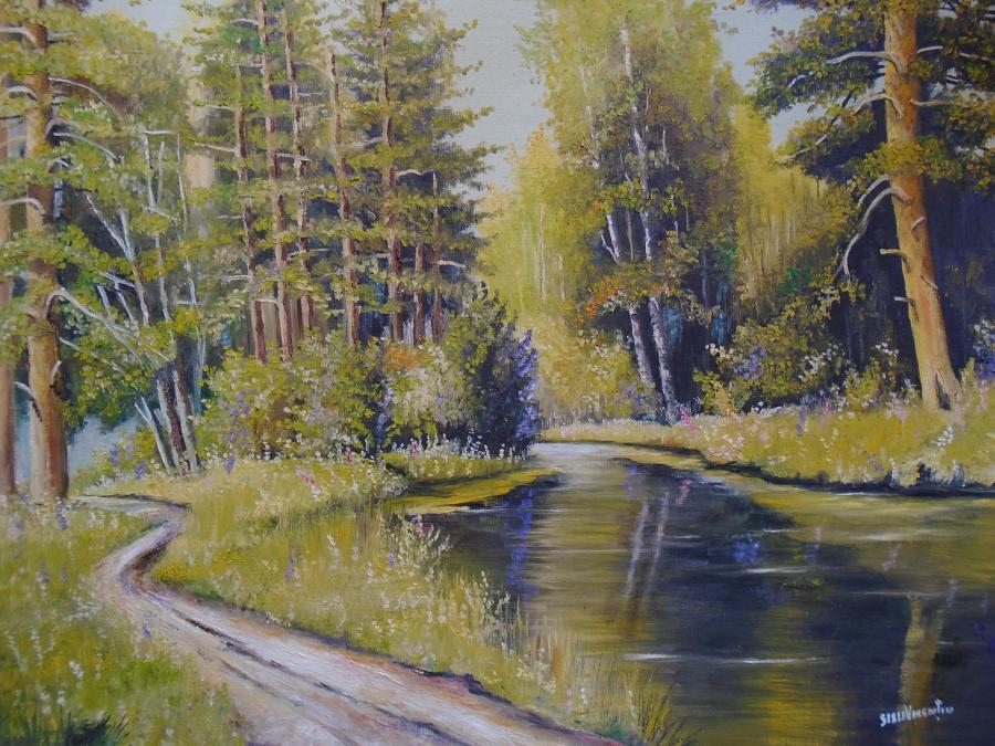 Picturi cu peisaje Lacul din padure 2 ..