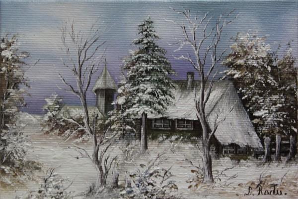 Picturi cu peisaje Miez de iarna 2 minia