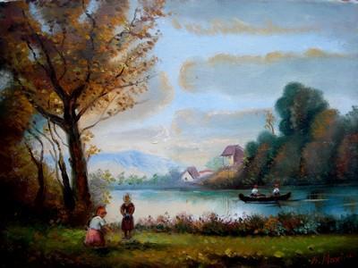 Picturi cu peisaje Peisaj Placerea toamn