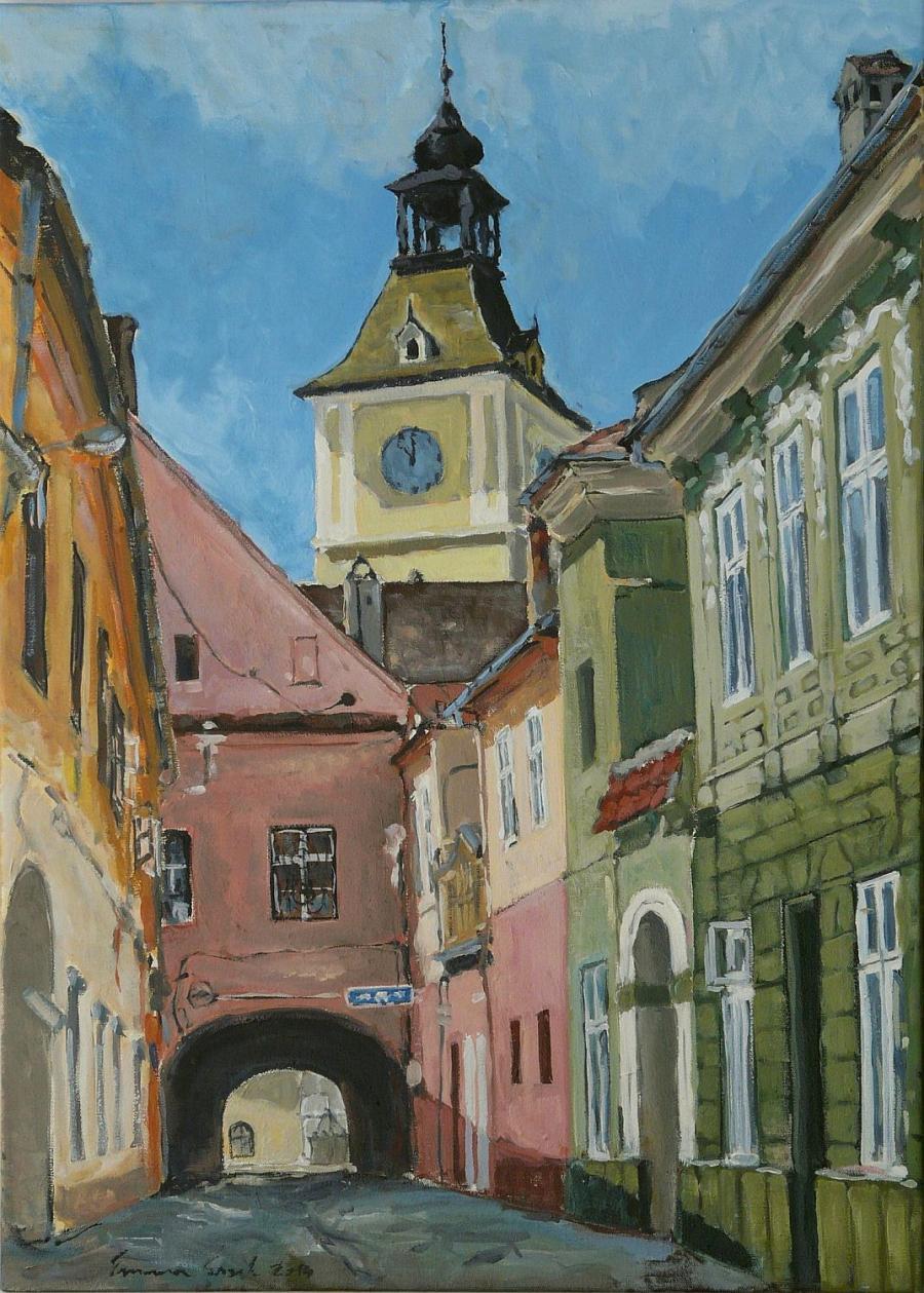 Picturi cu peisaje Piata Enescu si Casa