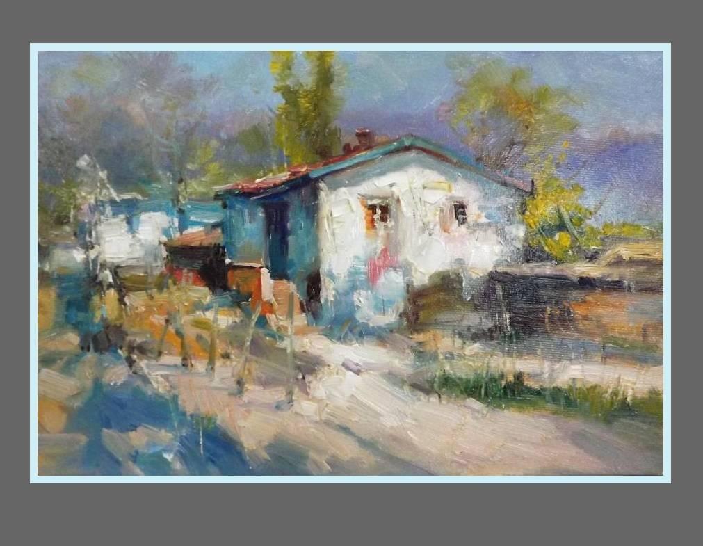 Picturi cu peisaje sat dobrogean