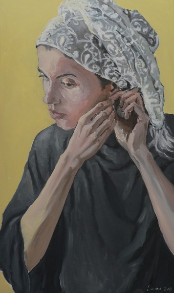 Picturi cu potrete/nuduri Fata care isi