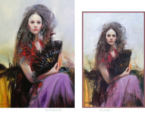 Picturi cu potrete/nuduri Femeia cu evan