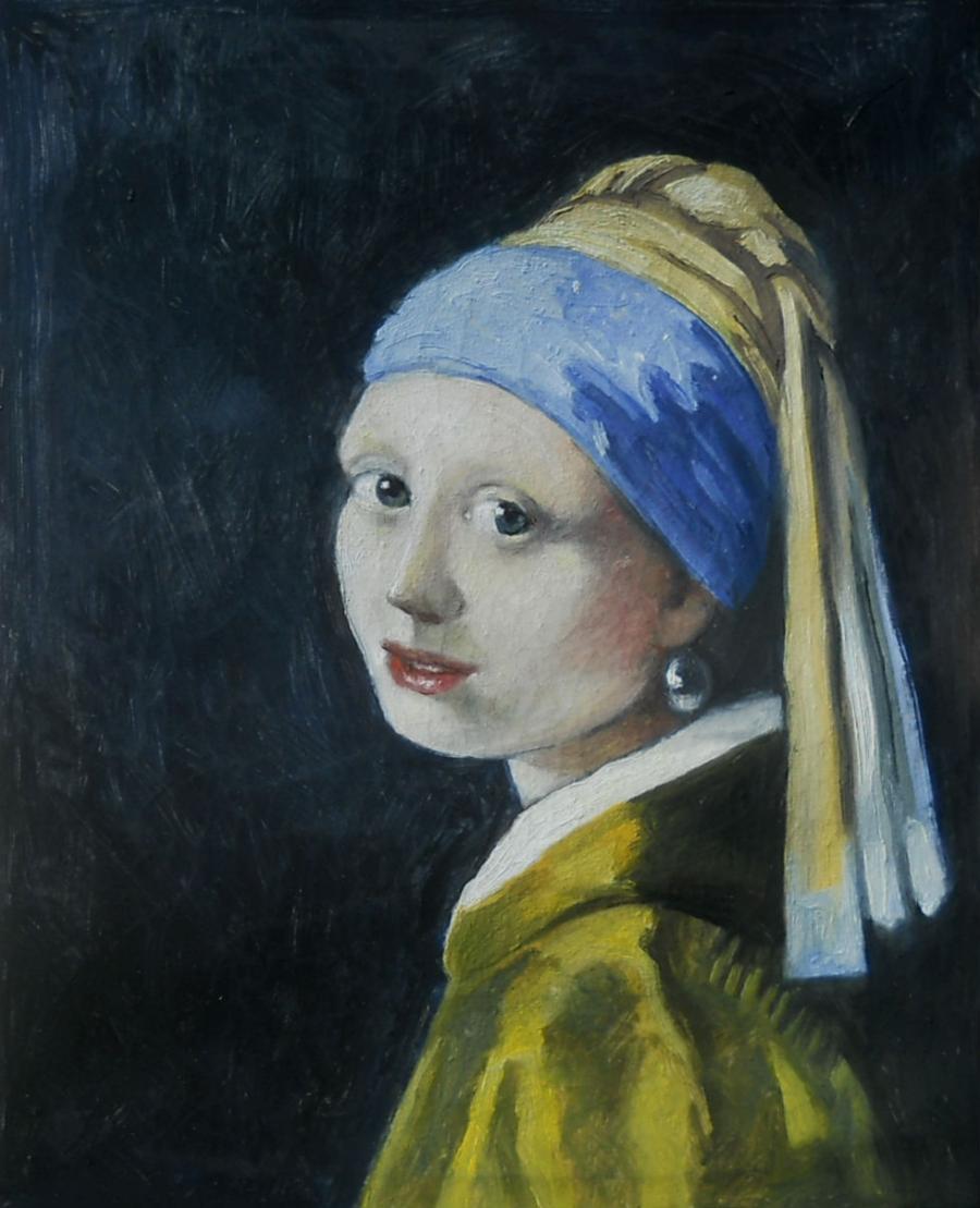 Picturi cu potrete/nuduri girl with a pe