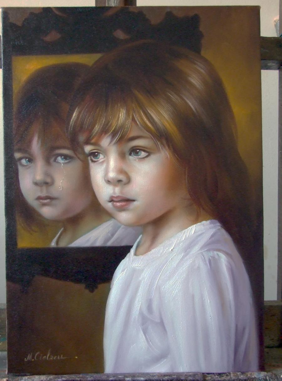Picturi cu potrete/nuduri Lacrima neputi