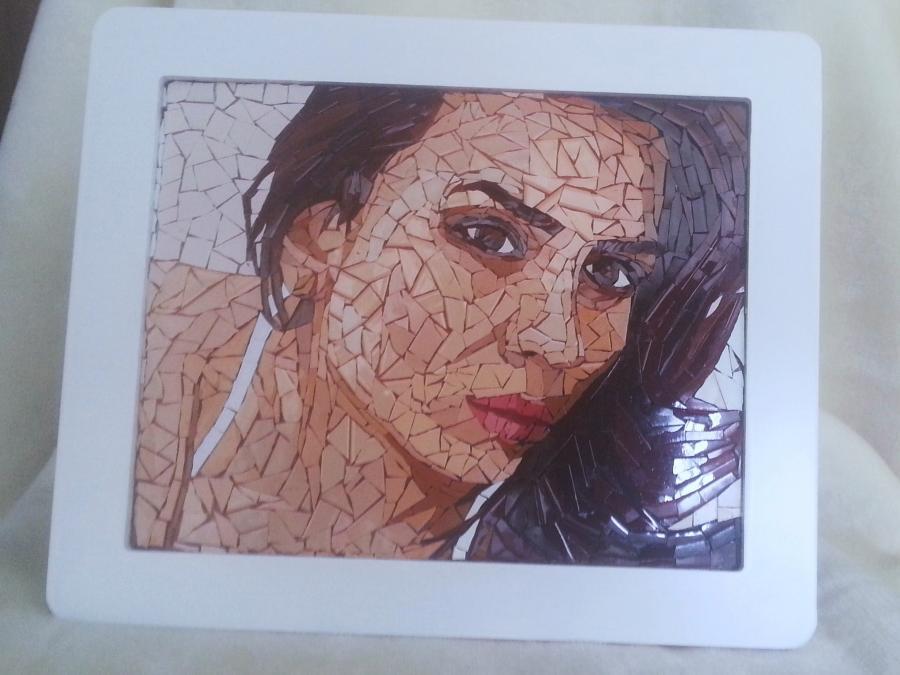 Picturi cu potrete/nuduri Portrete mozai