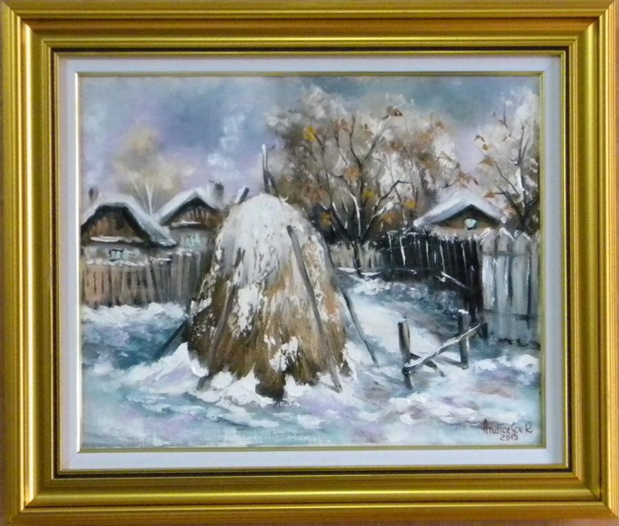 Picturi de iarna CAPITA  IN MIEZ DE IARN