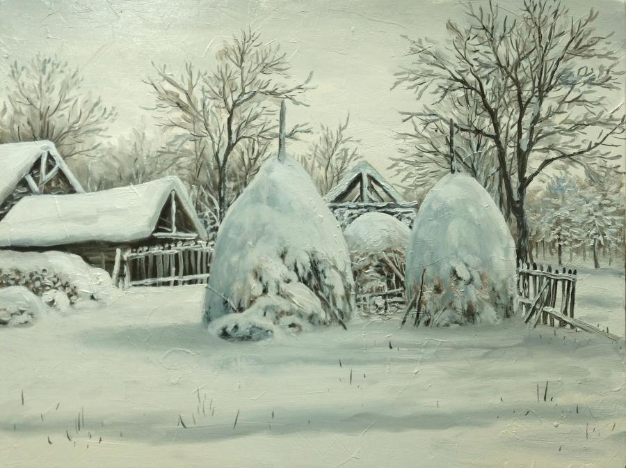 Picturi de iarna iarna cu capite E. S. 2