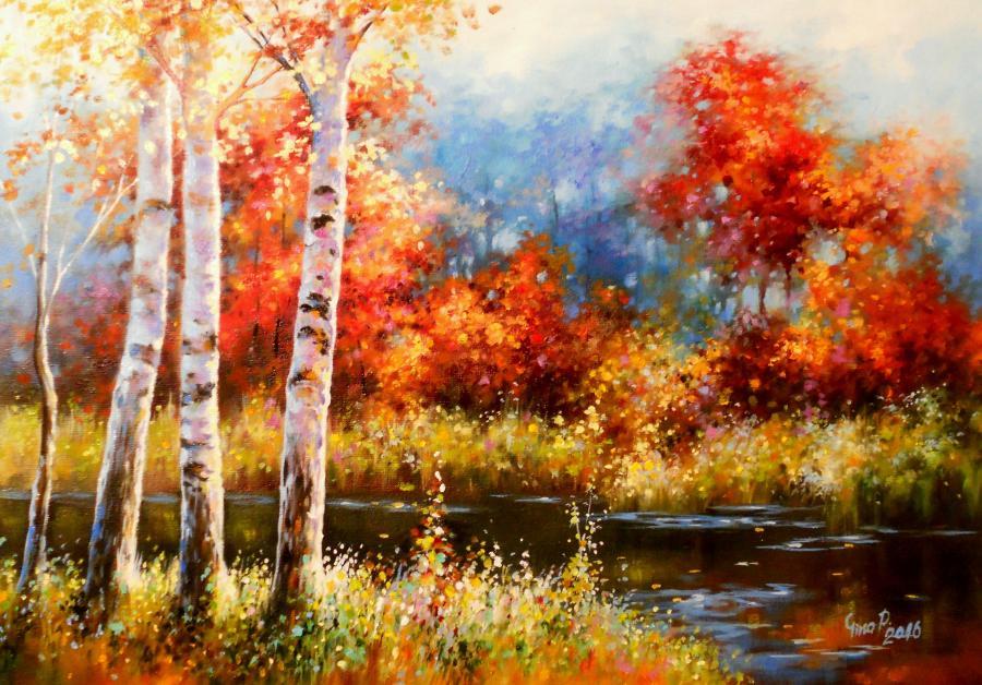 Picturi de toamna confined autumnal corn
