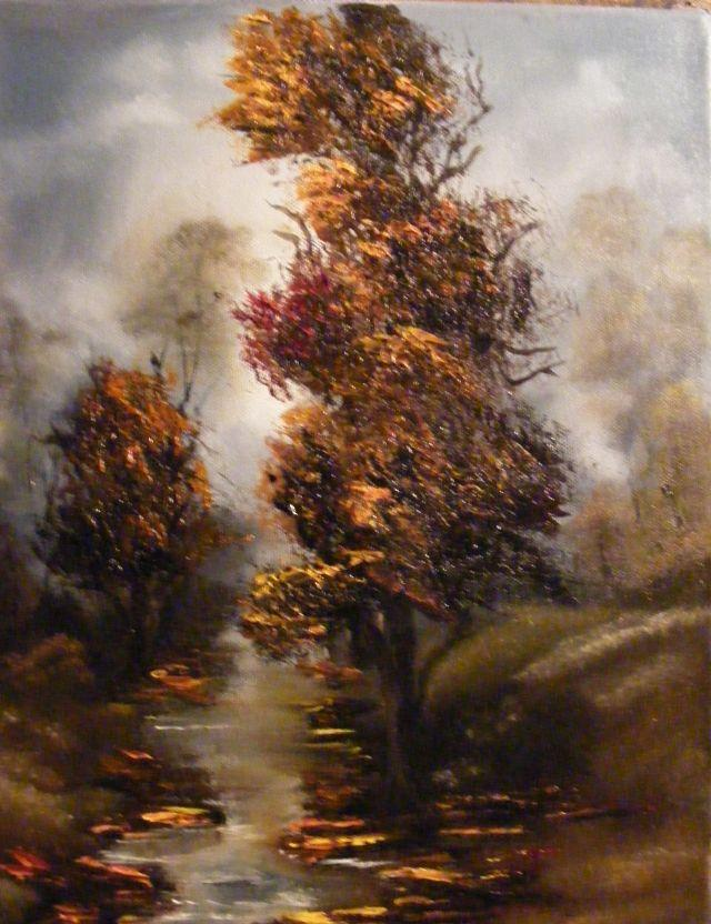Picturi de toamna Toamna in parc pe ploa