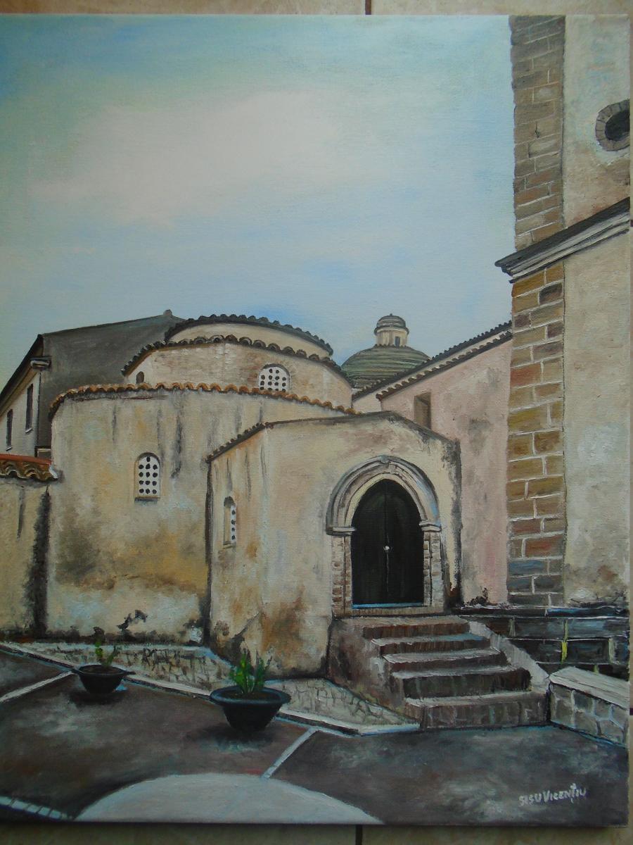 Picturi de vara biserica veche Santa Sev