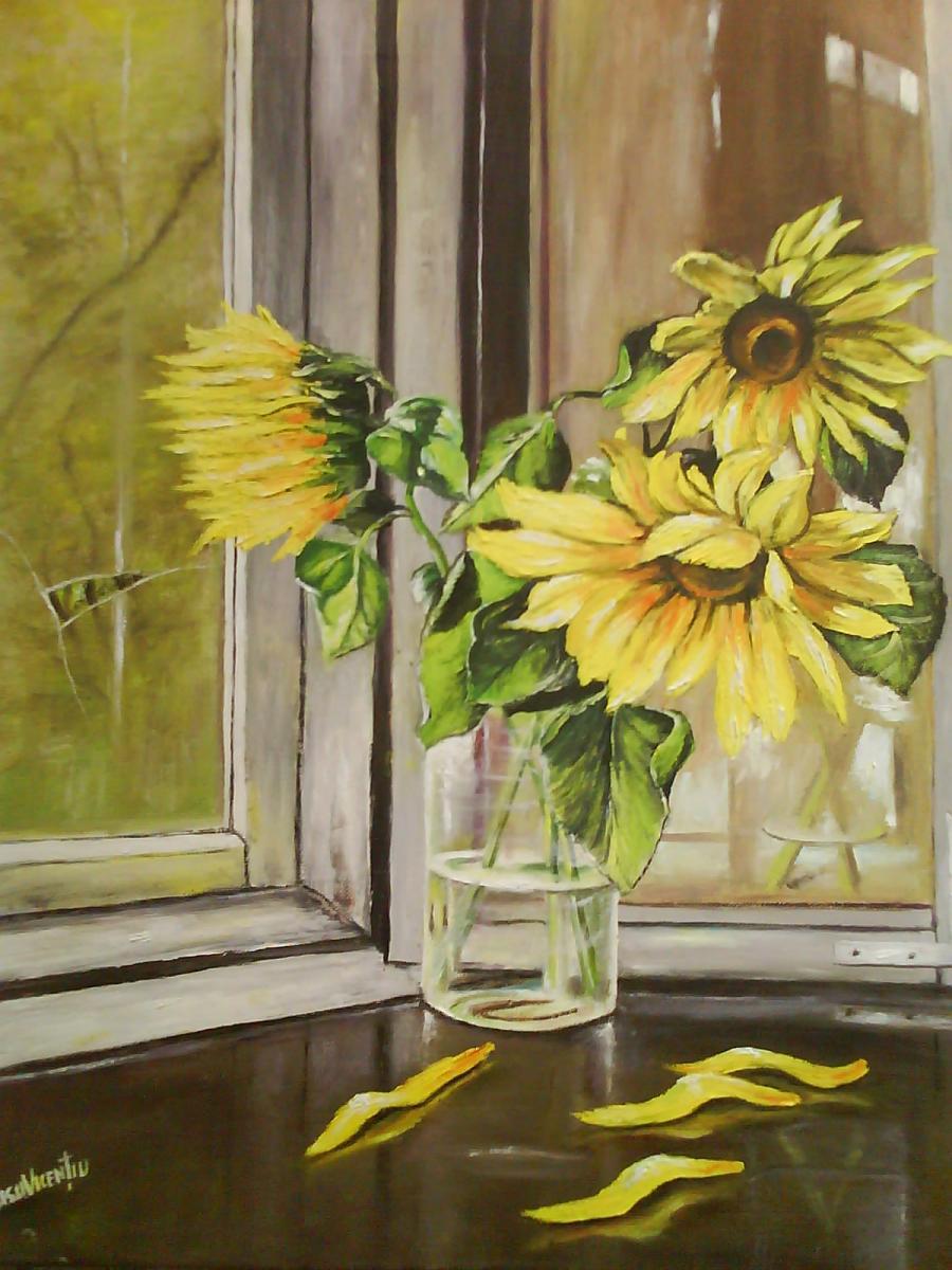 Picturi de vara decor cu floarea soarelu