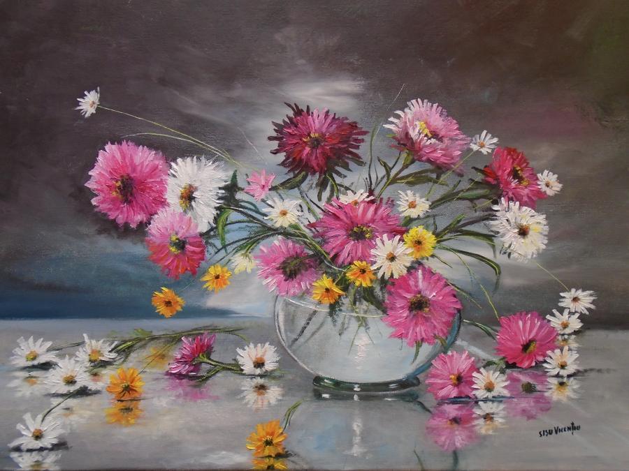 Picturi de vara Flori pentru Ecaterina .
