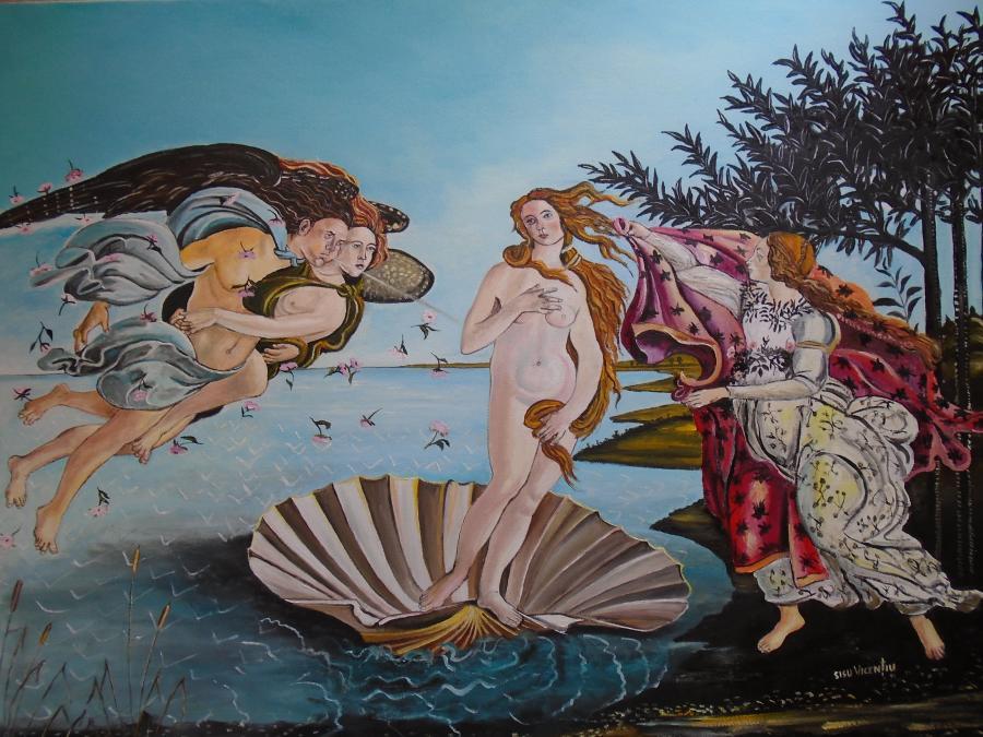 Picturi de vara Nasterea lui Venus de Bo