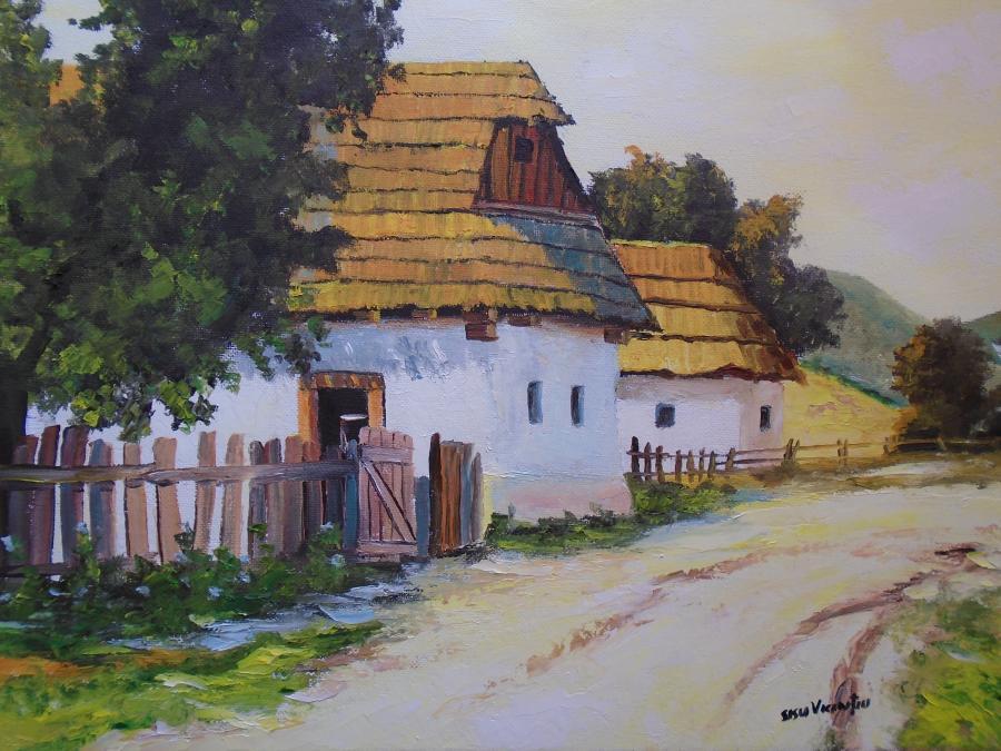 Picturi de vara Peisaj rustic o zi la ta