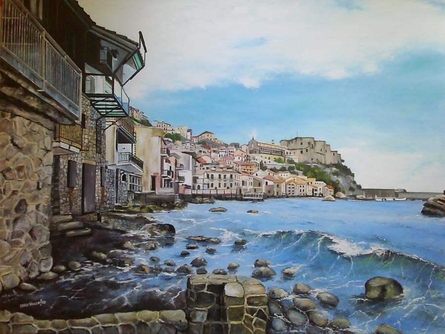 Picturi de vara scilla italia peisaj med
